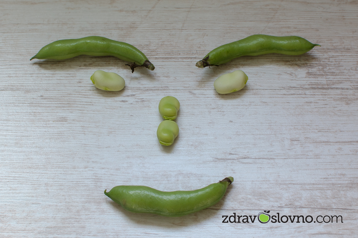 Smily face - broad beans